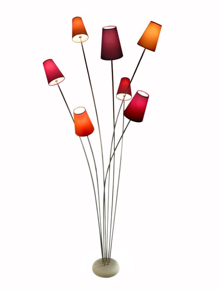 lampadaire inox et couleur a tir d 39 ailes. Black Bedroom Furniture Sets. Home Design Ideas